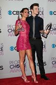 Lea Michelle and Chris Colfer at the 2013 People's Choice Awards Press Room, Nokia Theatre, Los Angeles, CA 01-09-13