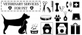 stock photo of shacks  - set isolated veterinary objects for pet care - JPG