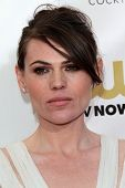 Clea DuVall at the 18th Annual Critics' Choice Movie Awards Arrivals, Barker Hangar, Santa Monica, C