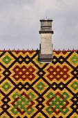 foto of hospice  - Roof of hospice of Beaune in Burgundy - JPG