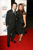 Freddy Rodriguez and wife Elsie at the AFI Fest 2006 Opening Night Premiere of