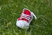 Kids Shoe On Grass