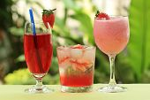 Strawberry Juice ,soda And Smoothie