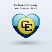 Love Caribbean Community and Common Market symbol.