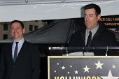 Jimmy Kimmel, Carson Daly at Jimmy Kimmel's induction into the Hollywood Walk of Fame, Hollywood, CA