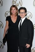 J.J. Abrams and Katie McGrath at the 24th Annual Producers Guild Awards, Beverly Hilton, Beverly Hills, CA 01-26-13