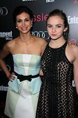 Morena Baccarin and Morgan Saylor at the Entertainment Weekly Pre-SAG Party, Chateau Marmont, West Hollywood, CA 01-26-13