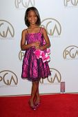 Quvenzhane Wallis at the 24th Annual Producers Guild Awards, Beverly Hilton, Beverly Hills, CA 01-26-13