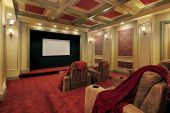 Theater With Plush Red Carpeting