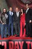 John Moore, Jai Courtney, Bruce Willis, Yuliya Snigir and Rasha Bukvic at the
