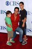 PASADENA - JULY 15: Don Diamont and his sons Alexander and Luca at CBS's TCA Press Tour at The Rose
