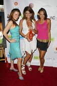 SANTA MONICA - JULY 23: Alicia Arden, Bridgetta Tomarchio, Lauren Madden at the Sexy Summer Soire Party by H.U.G.E benefiting Heal The Bay at AKWA Restaurant on July 23, 2006 in Santa Monica, CA.