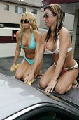 HOLLYWOOD - AUGUST 25: Car Wash Girls at the Adam Carolla and 97.1 KLSX Free FM Charity Car Wash to
