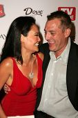 HOLLYWOOD - AUGUST 27: Tia Carrere and Tom Sizemore at the TV Guide Emmy After Party August 27, 2006 in Social, Hollywood, CA.