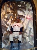 Seated Willie Mays Wax Statue On Display