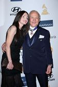Buzz Aldrin, Carolyn Hollingsworth at the 2013 Clive Davis And Recording Academy Pre-Grammy Gala, Be