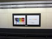 Ipod Nano Nano-chromatic Ad On Wall In Bart Powell Street Subway Station