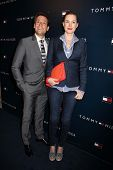 Ioan Gruffudd, Alice Evans at the Tommy Hilfiger West Coast Flagship Grand Opening Event, Tommy Hilf