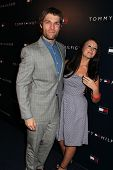 Liam McIntyre, Erin Hasan at the Tommy Hilfiger West Coast Flagship Grand Opening Event, Tommy Hilfi