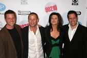 BEVERLY HILLS - NOVEMBER 03: Doug Savant, Grant Show, Daphne Zuniga, Darren Star at the
