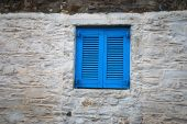blue window
