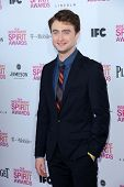 Daniel Radcliffe at the 2013 Film Independent Spirit Awards, Private Location, Santa Monica, CA 02-2