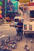 Hot Dog Car At Times Square. (nashville Effect Photo)