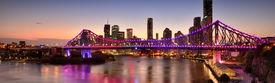 foto of nightfall  - Sunset image of the story bridge in Brisbane - JPG
