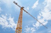 The image of crane under the sky