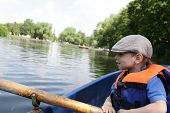 Kid Rowing Boat