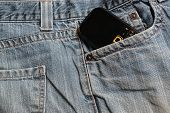 Blue Jeans And Mobile Phone