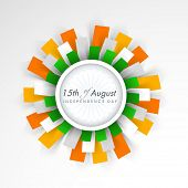 Beautiful floral in national flag colors on grey background for 15th of August, Indian Independence