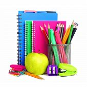 Notebooks and school supplies