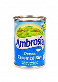 HAYWARD, CA - July 16, 2014: Can of Ambrosia brand Devon Creamed rice