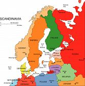 Scandanavia with Editable Countries, Names