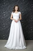Beautiful Woman In White Wedding Dress