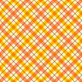 Plaid fabric background with yellow and orange lines. Abstract seamless vector pattern.