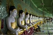 U Min Thonze Buddhist Temple On Sagaing Hill.