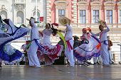 ZAGREB,CROATIA - JULY 16: Members of folk groups Colombia Folklore Foundation from Santiago de Cali,Colombia during the 48th International Folklore Festival in center of Zagreb,Croatia on July 16,2014