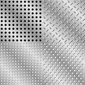 Seamless steel background