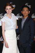LOS ANGELES - JUL 15:  Karen Gillan, John Cho at the ABC July 2014 TCA at Beverly Hilton on July 15,