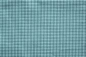 picture of indigo  - texture of textile checkered fabric of turquoise color indigo for abstract backgrounds - JPG