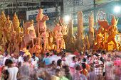 The traditional candle procession festival of Buddha.