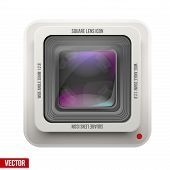 The square icon photography or video lens.