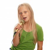 Young girl singer
