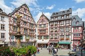 Bernkastel, Germany - Jul 21: Historic Center Of Medieval City Bernkastel With Unknown Tourists On J