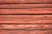 Red Ocher Painted Timber Wall