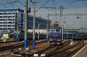 KIEV, UKRAINE -MAY 25, 2014:Central Railway Station . Kiev's Central Railway Station serving 170,000