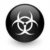 biohazard black glossy internet icon