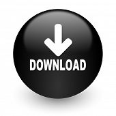 download black glossy internet icon